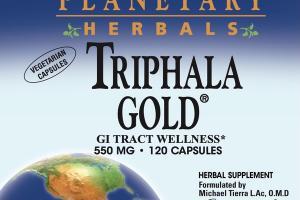 TRIPHALA GOLD 550 MG GI TRACT WELLNESS HERBAL SUPPLEMENT VEGETARIAN CAPSULES