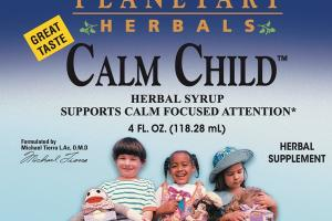 CALM CHILD SUPPORTS CALM FOCUSED ATTENTION HERBAL SUPPLEMENT SYRUP