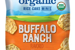 BUFFALO RANCH FLAVORED ORGANIC RICE CAKE MINIS