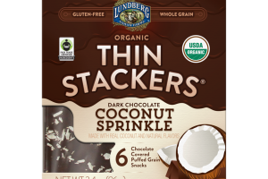 DARK CHOCOLATE COCONUT SPRINKLE ORGANIC CHOCOLATE COVERED PUFFED GRAIN SNACKS