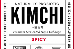 SPICY KIMCHI NATURALLY PROBIOTIC PREMIUM FERMENTED NAPA CABBAGE