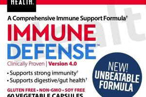 A COMPREHENSIVE IMMUNE SUPPORT FORMULA+ IMMUNE DEFENSE DIETARY SUPPLEMENT VEGETABLE CAPSULES