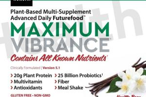 MAXIMUM VIBRANCE PLANT-BASED MULTI-SUPPLEMENT ADVANCED DAILY FUTUREFOOD DIETARY SUPPLEMENT VANILLA BEAN