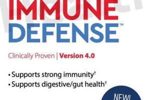 IMMUNE DEFENSE A COMPREHENSIVE IMMUNE SUPPORT FORMULA DIETARY SUPPLEMENT VEGETABLE CAPSULES