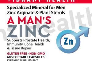 A MAN'S ZINC SUPPORTS PROSTATE HEALTH, IMMUNITY, BONE HEALTH & TISSUE REPAIR DIETARY SUPPLEMENT VEGETABLE CAPSULES