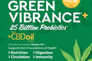 GREEN VIBRANCE + 25 BILLION PROBIOTICS SUPPORTS NUTRITION, DIGESTION, CIRCULATION, IMMUNITY DIETARY SUPPLEMENT DRINK POWDER