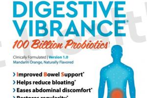 DIGESTIVE VIBRANCE 100 BILLION PROBIOTICS ADVANCED GUT HEALTH FORMULA DIETARY SUPPLEMENT DRINK POWDER, MANDARIN ORANGE