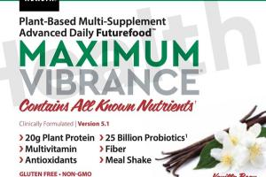 MAXIMUM VIBRANCE 25 BILLION PROBIOTICS, PLANT PROTEIN 20 G ADVANCED DAILY FUTUREFOOD DIETARY SUPPLEMENT POWDER, VANILLA BEAN