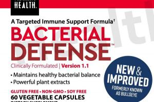 BACTERIAL DEFENSE TARGETED IMMUNE SUPPORT FORMULA DIETARY SUPPLEMENT VEGETABLE CAPSULES