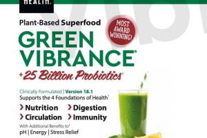 GREEN VIBRANCE + 25 BILLION PROBIOTICS SUPPORTS NUTRITION, DIGESTION, CIRCULATION, IMMUNITY DIETARY SUPPLEMENT DRINK POWDER TO GO PACKETS