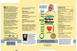 ORGANIC GRIPE WATER SOOTHES STOMACH DISCOMFORT FROM COLIC, TEETHING, AND HICCUPS* DIETARY SUPPLEMENT