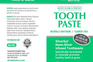 SILVERSOL NANO-SILVER INFUSED TOOTHPASTE, WINTER MINT