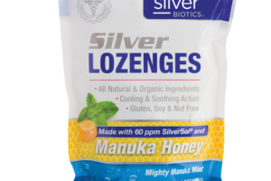 IMMUNE SUPPORT SUPPLEMENT SILVER LOZENGES, MIGHTY MANUKA MINT