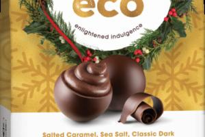 SALTED CARAMEL, SEA SALT, CLASSIC DARK, & SILK VELVET ORGANIC CHOCOLATE HOLIDAY MEDLEY TRUFFLES