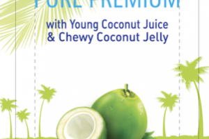 COCO PURE PREMIUM WITH YOUNG COCONUT JUICE & CHEWY COCONUT JELLY DRINK
