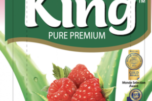 NATURAL RASPBERRY FLAVORED KING PURE PREMIUM ALOE VERA DRINK