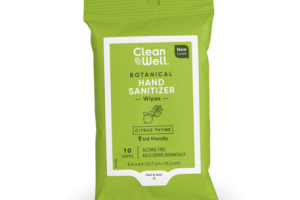 BOTANICAL HAND SANITIZER WIPES, CITRUS THYME