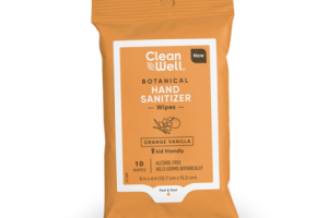 BOTANICAL HAND SANITIZER WIPES, ORANGE VANILLA
