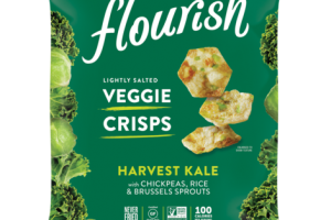 LIGHTLY SALTED HARVEST KALE WITH CHICKPEAS, RICE & BRUSSELS SPROUTS VEGGIE CRISPS