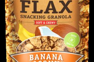 BANANA COCONUT SOFT & CHEWY FLAX SNACKING GRANOLA