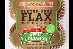 APPLE CINNAMON GLUTEN-FREE FLAX MUFFINS