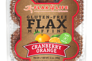 GLUTEN-FREE CRANBERRY ORANGE FLAX MUFFINS