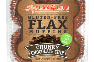 GLUTEN - FREE CHUNKY CHOCOLATE CHIP FLAX MUFFINS