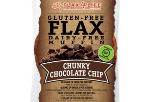 CHUNKY CHOCOLATE CHIP GLUTEN-FREE FLAX DAIRY-FREE MUFFIN