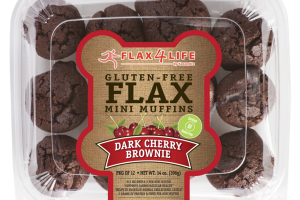 DARK CHERRY BROWNIE GLUTEN-FREE FLAX MINI MUFFINS