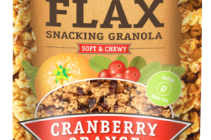 CRANBERRY ORANGE SOFT & CHEWY FLAX SNACKING GRANOLA