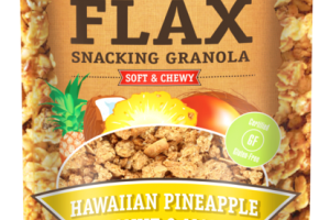 HAWAIIAN PINEAPPLE COCONUT & MANGO SOFT & CHEWY FLAX SNACKING GRANOLA
