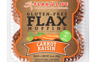 CARROT RAISIN FLAX MUFFINS