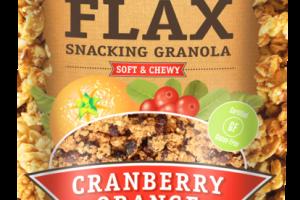 GLUTEN-FREE FLAX CRANBERRY ORANGE SNACKING GRANOLA