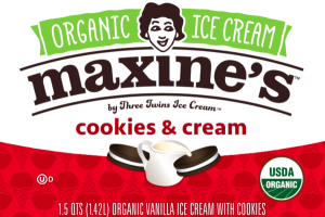 COOKIES & CREAM ORGANIC VANILLA ICE CREAM WITH COOKIES