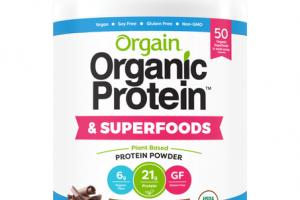 CREAMY CHOCOLATE FUDGE FLAVOR PLANT BASED PROTEIN POWDER & SUPERFOODS