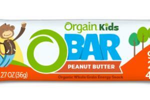 KIDS ORGANIC PEANUT BUTTER WHOLE GRAIN ENERGY SNACK OBAR