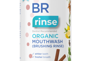 BR RINSE DENTIST RECOMMENDED ORGANIC MOUTHWASH (BRUSHING RINSE) WHITER TEETH CINNAMINT