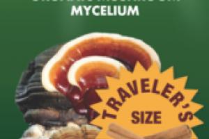ORGANIC MUSHROOMS MYCELIUM IMMUNE SUPPORT CINNAMON GLUTEN FREE DIETARY SUPPLEMENT SPRAY
