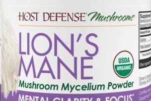 LION'S MANE MENTAL CLARITY & FOCUS DIETARY SUPPLEMENT MUSHROOM MYCELIUM POWDER