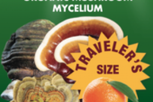 ORGANIC MUSHROOMS MYCELIUM IMMUNE SUPPORT GLUTEN FREE DIETARY SUPPLEMENT SPRAY, CITRUS