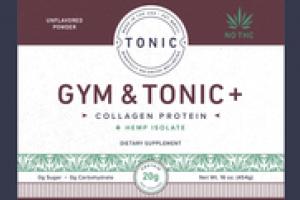 GYM & TONIC + COLLAGEN PROTEIN + HEMP ISOLATE DIETARY SUPPLEMENT POWDER, UNFLAVORED