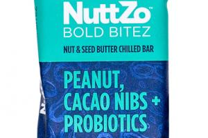 PEANUT, CACAO NIBS + PROBIOTICS NUT & SEED BUTTER CHILLED BOLD BITEZ BAR