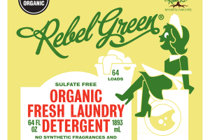 ORGANIC FRESH LAUNDRY DETERGENT, PEPPERMINT & LEMON