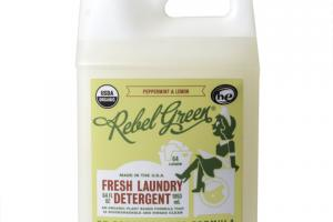 FRESH LAUNDRY DETERGENT, PEPPERMINT & LEMON