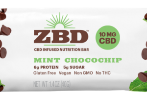 MINT CHOCOCHIP 10 MG CBD INFUSED NUTRITION BAR