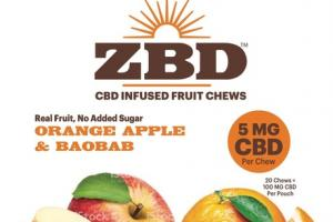 ORANGE APPLE & BAOBAB CBD INFUSED FRUIT CHEWS