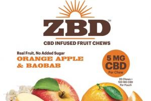100 MG CBD INFUSED FRUIT CHEWS ORANGE APPLE & BAOBAB