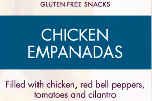 CHICKEN EMPANADAS FILLED WITH CHICKEN, RED BELL PEPPERS, TOMATOES AND CILANTRO