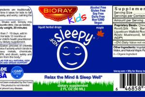 NDF SLEEPY RELAX THE MIND & SLEEP WELL DIETARY SUPPLEMENT LIQUID HERBAL DROPS, MAPLE