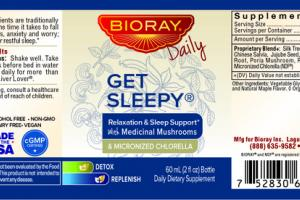 RELAXATION & SLEEP SUPPORT WITH MEDICINAL MUSHROOMS & MICRONIZED CHLORELLA DAILY DIETARY SUPPLEMENT